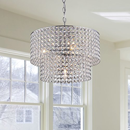 Jojospring Ainhoa 5-light Chrome Double Round Crystal Chandelier