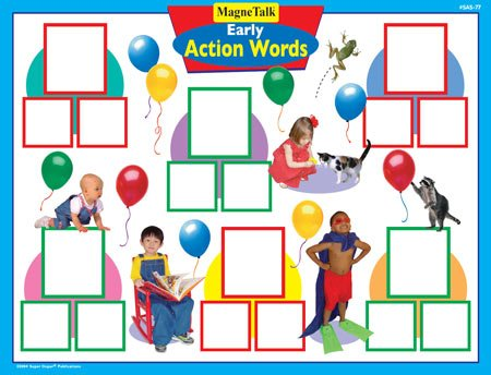 Magnetic Early Action Words Board Game - Super Duper Educ...