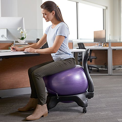 Yoga ball chair for home office
