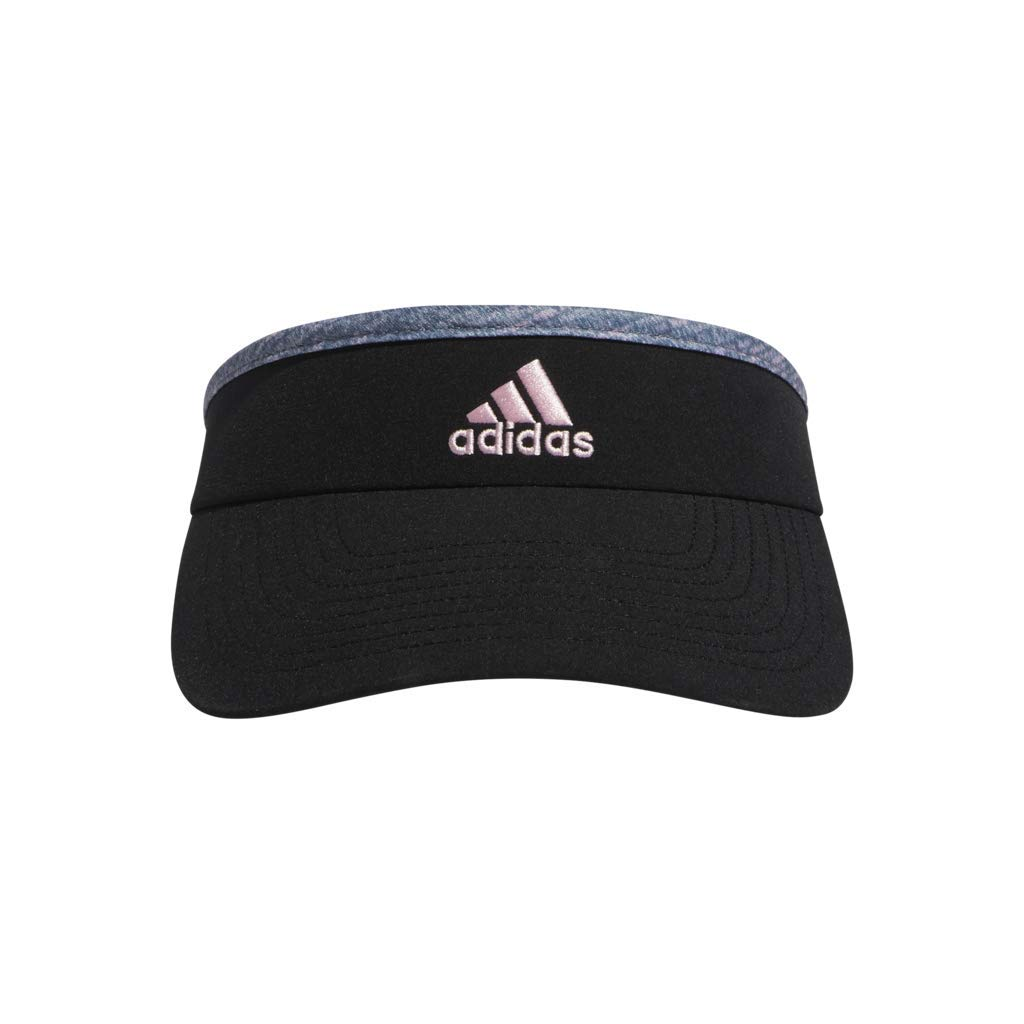 adidas Women's Match Visor, Black/Jersey Fleck True Pink, ONE SIZE by adidas
