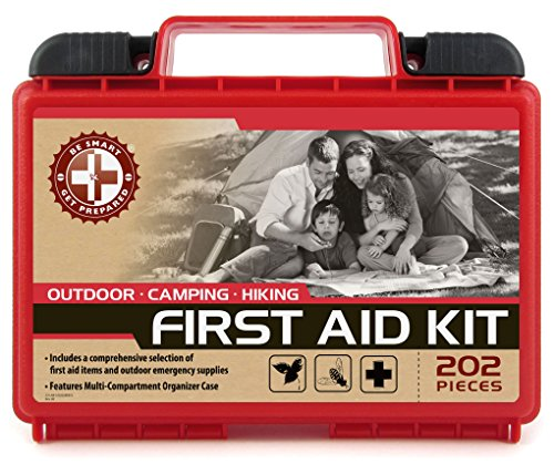 Be Smart Get Prepared 202 Piece First Aid Kit, Outdoor, 1.5 Pound