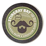 All-natural Botanical Beard and Moustache Gloss and Wax by Stingray Bay