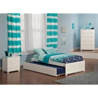 Nantucket Bed Set Twin Bed with Urban Trundle and Nightstand Caramel Latte