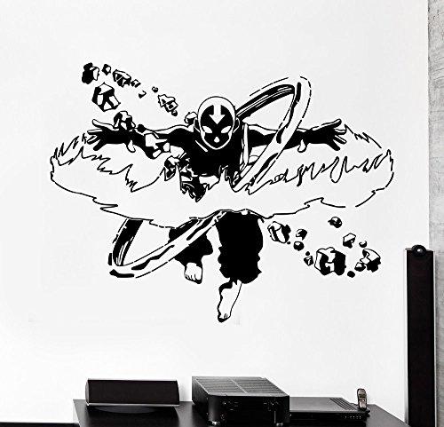 Avatar: The Last Airbender Wall Vinyl Decal Aang Airbender Image Anime Cartoon Vinyl Sticker Home Interior Decor Childs Room Design Wall Art av3(29x22)
