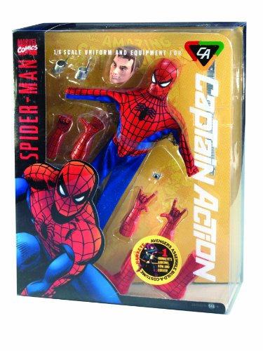 Round 2 Captain Action Deluxe Spider-Man Costume (Captain Action Costume Set)