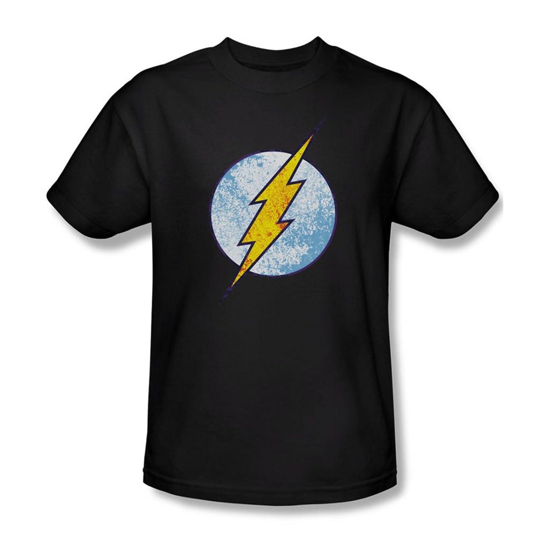 Dc Comics - Mens Flash Neon Distress Logo T-Shirt In Black