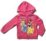 Disney Princess Little Girls Toddler Zip Hoodie (4T)