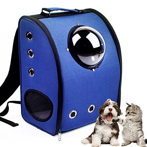 aoxsen perro gato cachorro mascota bolsa de transporte innovador Traveler burbuja mascota Mochila Doble hombro bolsa viajes aéreos, aprobado espacio mascota ...