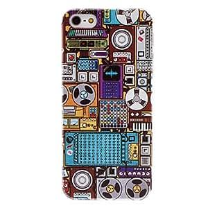Patrón caso duro antiguo aparatos transparente marco de 5/5s iphone