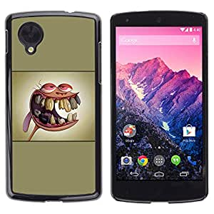 LECELL--Funda protectora / Cubierta / Piel For LG Nexus 5 D820 D821 -- Ren y St1Mpy --