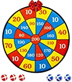 m-aimee velcro dart board game for kids (16 inches) - 6 balls with hook-and-loop fasteners kids