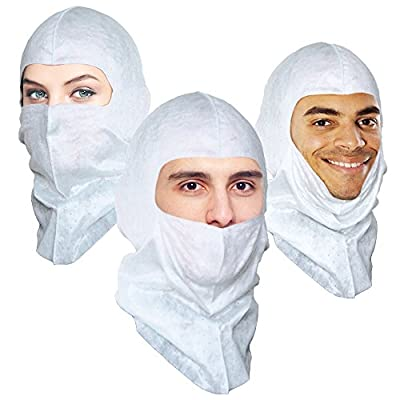 Spray Foam Soft-stretch Hood Replacing Spray Sock and Disposable Hood with Superior Protection and Lower Cost. Ninja Hood, PPE Primary head Protection. $1.96 Ea, 6 Per Pack