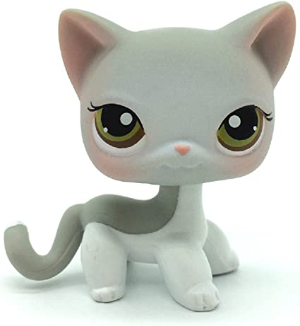 Rare Littlest Pet Shop toys lps cat shorthair with Mask #1116 collecting toys