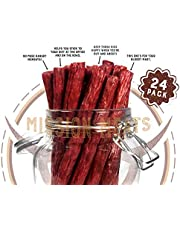 TASTY Non-GMO Grass-Fed Beef Sticks Gluten Free MSG Free Nitrate Nitrite Free Paleo Snacks Keto Healthy Natural Meat Sticks