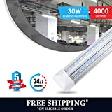 T8 4ft V shape led tube 30w Integrated 6500k clear 4000 lumens 50Pcs