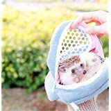 Yosoo 1 PCS Portable African Hedgehog Hamster Breathable Pet dog Carrier Bags Handbags Puppy Cat Travel Backpack (S, White Mesh - Blue)