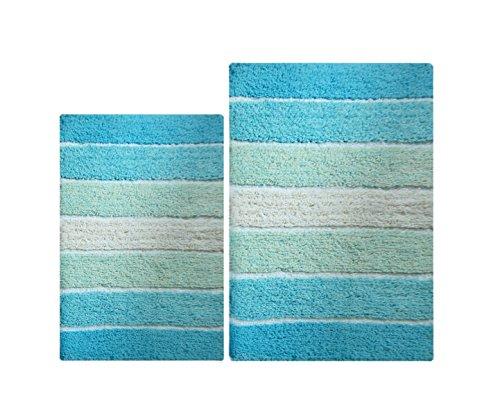 Aqua Bathroom Rugs: Amazon.com