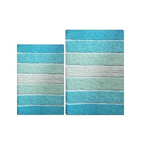 Aqua Bath Rugs Amazoncom - Aqua bathroom rugs