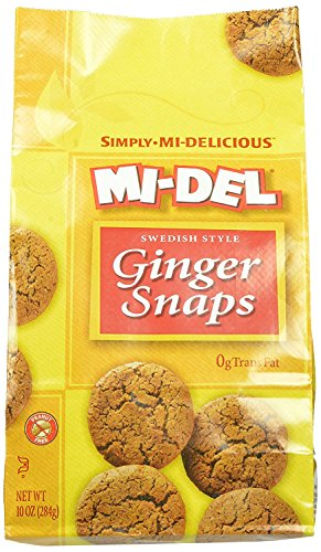 (Mi-Del, Swedish Style Ginger Snaps, 10 Ounce Bags (Pack of 8))