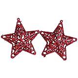 Zoilmxmen Xmas Glitter Hollow Snowflake Hanging Star Christmas Tree Ornament Xmas Tree Pendant Party Christmas Xmas Gifts Home Holiday Decoration
