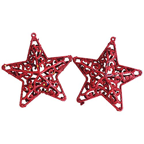 Gingerbread House Invitations Party (HHmei Xmas Glitter Hollow Snowflake Hanging Star Christmas Party Decor Tree Ornament Decorations Outdoor Tree Table Lights Blue Home Set Silver Wall Ornaments Party Invitations Red)