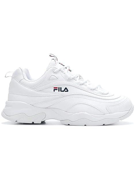 Fila Hombre FS1SIA1160X Blanco Poliuretano Zapatillas: Amazon.es: Zapatos y complementos