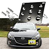 1 Set Front Tow Hook License Plate Bumper Mounting Bracket Fit Mazda 3 Mazda6, Mazda CX5, Mazda MX5, Mazda Miata[Black]