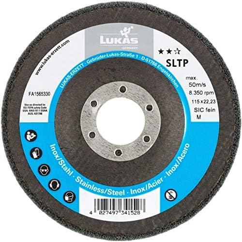 LUKAS Fächerschleifscheibe SLTP universal Ø 115 mm Siliciumcarbid Korn fein | weich