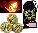 Fyrefli fire juggling balls (80mm) Pro Fire Juggling Ball Set of 3 and fuel bottle + Travel Bag.