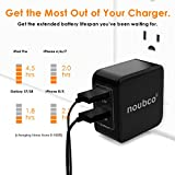 noubco Dual USB Wall Charger, 4.8A 24W Multi Port