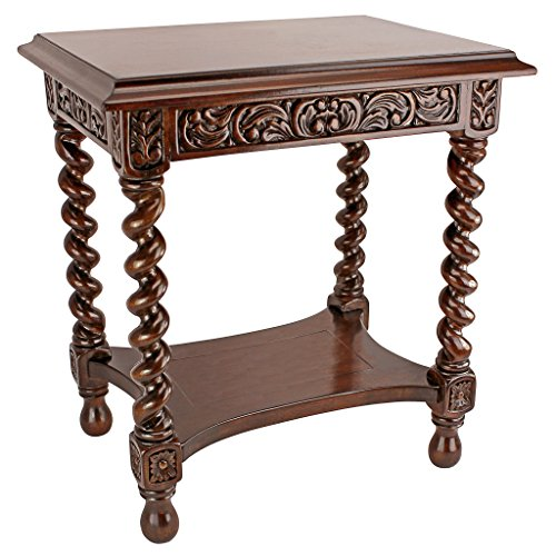 Carved Barley Twist - Design Toscano Camberwell Manor Medieval Petite Side Table