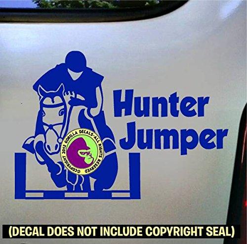 Front View HUNTER JUMPER Vinyl Decal Sticker D
