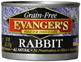 EVANGER'S 776255 24-Pack Grain Free 100-Percent Rabbit for Dogs and Cats, 6-Ounce