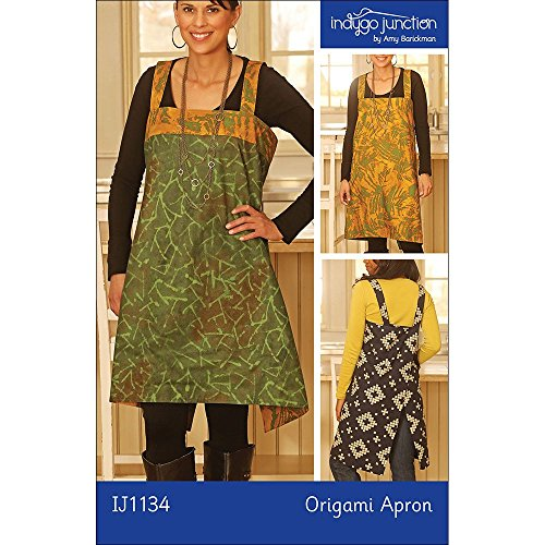 """INDYGO JUNCTION """"ORIGAMI APRON"""" Sewing Pattern"""