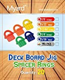 Myard DJS3.2 1/8 Inches Deck Board Jig Spacer Rings for Pressure Treated, Composite, PVC, Plank, Hardwood Decking Tool