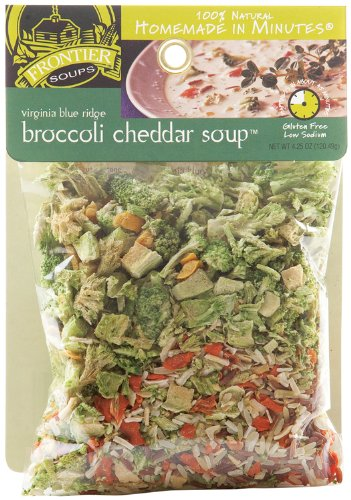 Frontier Soups Homemade In Minutes Virginia Blue Ridge Broccoli Cheddar Soup, 4.25-Ounce Bags (Pack of 4)