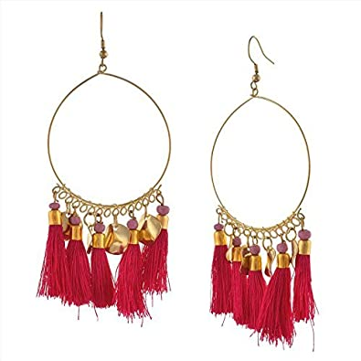 69007a87a Buy Zephyrr Non Precious Metal Drop Earring for Women (Pink)(JAE-352 ...