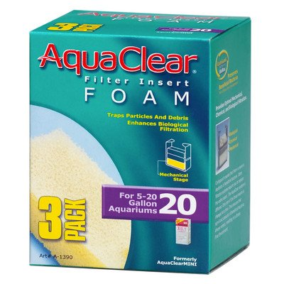 AquaClear Foam Filter Insert (3 Pack) [Set of 2] Size: 50 (20-50 Gallon)