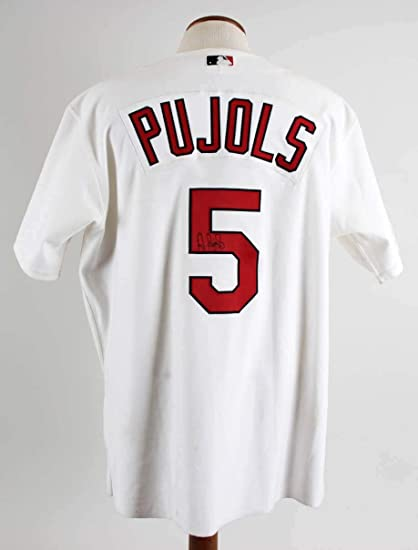 detailed look 5611f 783be Amazon.com: 2003 Albert Pujols Game-Worn, Signed Jersey ...