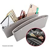 2 in 1 Car Seat Gap Organizer | Universal Fit | Storage Pockets Adjust | 2 Set Car Seat Crevice Storage Box | Helps Reduce Distracted Driving & Holds Phone Money Cards Keys Remote