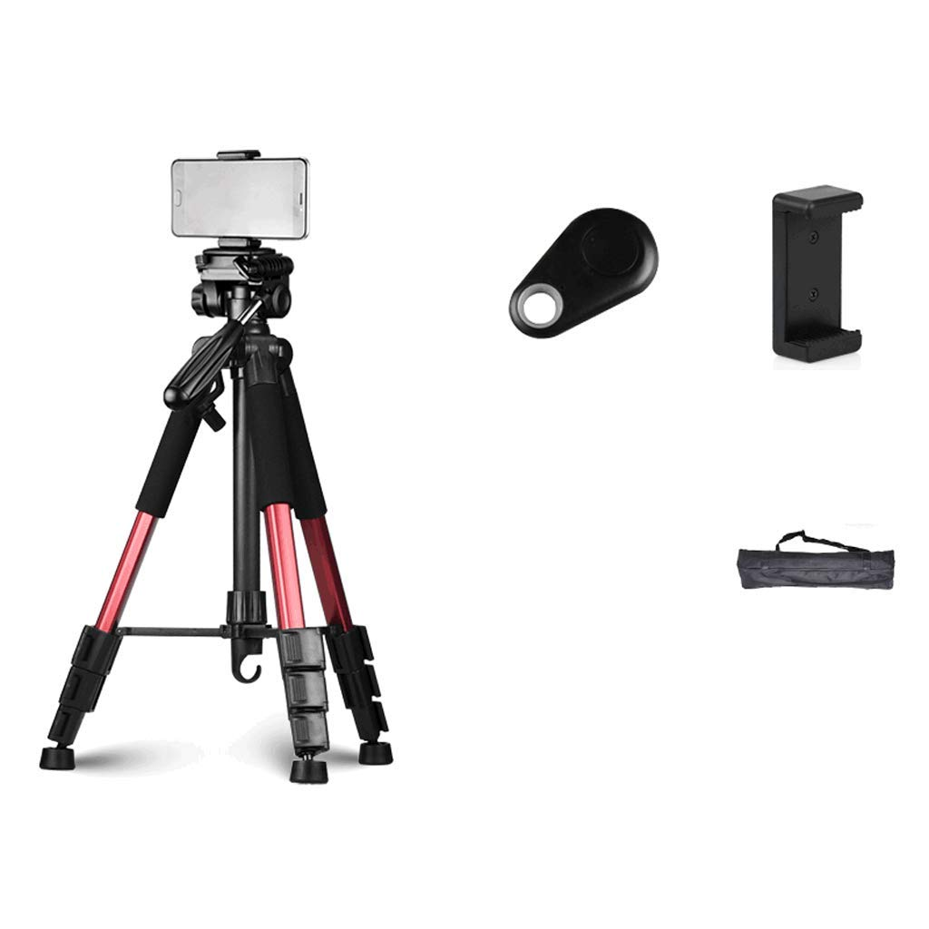 Fill Light Mobile Phone Live Stand Tripod Floor Type Multi-Function Beauty Self-Timer Photo Video Live Broadcast Equipment LCSHAN (Color : Red and Black, Size : 170+Three+26cm) by Fill light