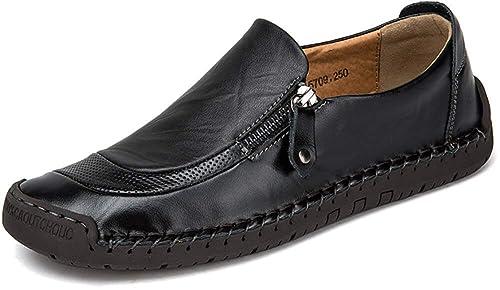 Phefee Mocasines para Hombre Zapatos de conducción Slip-On Casuales del Zapatos de Cuero del