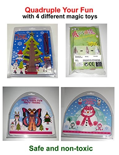 Science Gone Fun Combo: 4 Different Holiday Magic Growing Toys for ()