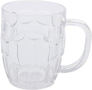 EPVSR 10 pack Plastic Beer Mugs,8oz Clear Plastic Cup,Dishwasher-Safe
