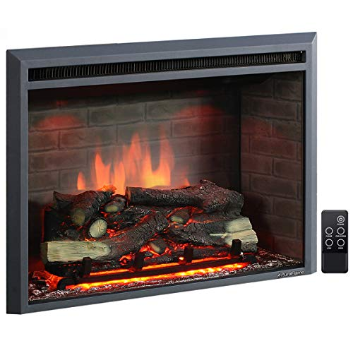 PuraFlame 33 Inches Western Electric Fireplace Insert with Remote Control