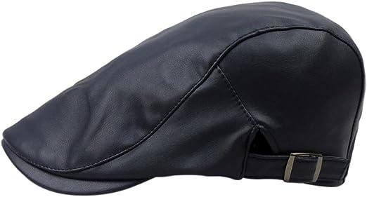 Gespout Sombreros Gorras Boinas para Cuero Hombres Cuero ...