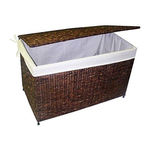 America Basket Woven Maize Storage Chest in Rich Walnut Finish IVG130