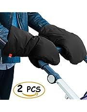 Poussette Gants,Mopalwin Gants de Poussette Antigel Gants, Hiver Protège Mains Chauds Gants,Imperméable Chauffe-mains Noir