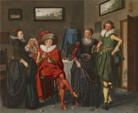 The Perfect Effect Canvas Of Oil Painting 'Willem Buytewech (attributed To) - The Jovial Company, C. 1622-24' ,size: 18x22 Inch / 46x56 Cm ,this Reproductions Art Decorative Canvas Prints Is Fit For Kitchen Artwork And Home Gallery Art And (Womens Korean Pop Star Costume)