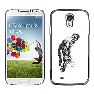 Caucho caso de Shell duro de la cubierta de accesorios de protección BY RAYDREAMMM - Samsung Galaxy S4 I9500 - Zombie Art Drawing Tattoo